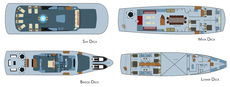 Stella Maris Deck Plans